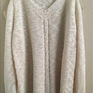 She & Sky Cold Shoulder Sweater